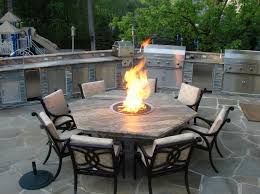 nice dining height fire table patio dining table with fire pit rickevans homes