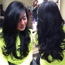 سلم إضافي طويل للشعر المتوسط جميل قص الشعر القصير على الشعر