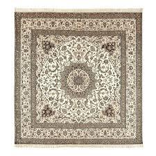 vintage square habibian nain persian rug