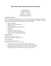 Entry Level Real Estate Resume