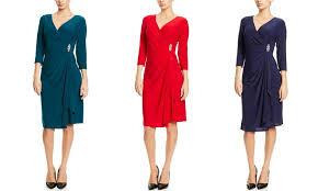 R M Richards Faux Wrap Cocktail Dress Groupon