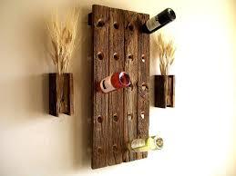 wood wall mounted wine racks
