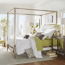 Solivita Champagne Gold Metal Canopy Bed with Tufted Headboard by iNSPIRE Q  Bold - Free Shipping Today - Overstock.com - 24912344