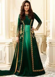 Kareena Kapoor Green Abaya Style Salwar Suit With Jacket Festive