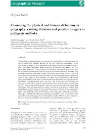 Pdf Examining The Physical And Human Dichotomy In Geography