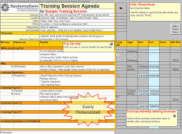 Training Agenda Training Plan Template Training Agenda Template Training