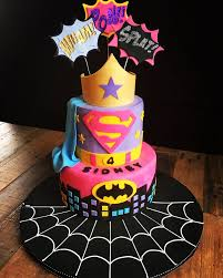 cakes for girls 8th birthday. Delighful Cakes Super Hero Cake For Girls Superherocake Girlssuperherocake Cakeideas  Girlscakeideas Supergirlcake Superherobirthdayparty Giu2026  My Bonkers Cakes  To For Girls 8th Birthday T
