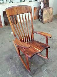custom built koa wood rocker