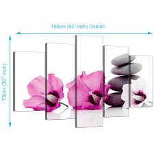 display gallery item 1 5 part set of cheap pink canvas art display gallery item 2  on debenhams wall art canvases with extra large flowers canvas prints uk 5 panel in pink