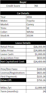 Lease Calculator Print Offer Suggestions Leasehackr Forum