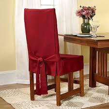 sure fit duck solid shorty dining room chair slipcover claret sf33881