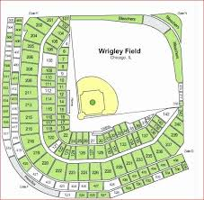 Chicago Cubs Seating Chart Awesome 18 Elegant Wrigley Field
