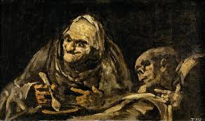 francisco de goya two old men eating one of the black paintings from