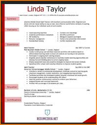 Teaching Resume Template Format Free Agreement For Teachers English