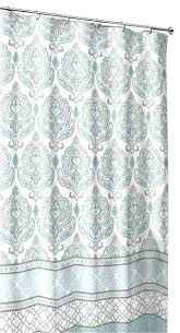 teal chevron shower curtains. Grey And Teal Shower Curtain White Fabric Damask With Geometric Border Design Chevron Curtains