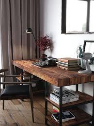 Amazing Wood Desk Ideas Best Ideas About Wooden Desk On Pinterest Desks  Industrial