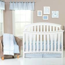 blue and grey crib bedding sky 3 piece set baby chevron trend lab
