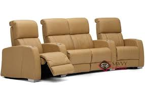 home theater leather recliner. hifi 4-seat leather reclining home theater seating with loveseat (curved) recliner t