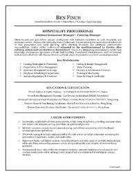 Sample Resume Hospitality Hospitality Resume Writing Example medical Pinterest Hospitality 1