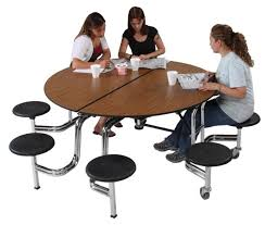 AmTab 60 Round Mobile Cafeteria Table School Office Directcom