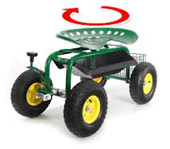 garden seat on wheels. Adjustable Rolling Garden Seat On Wheels With Handle Control