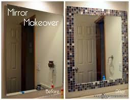 mirror makeover diy bathroom makeover