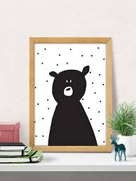 bear print nursery wall art modern nursery decor by dilemmaposters on cute nursery wall art with bear print nursery wall art modern nursery decor cute print