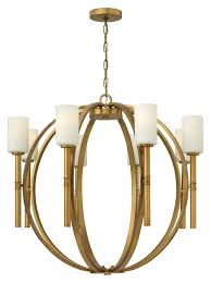 hinkley 3588vs margeaux extra large vintage brass 36 inch diameter 8 lamp modern chandelier light fixture loading zoom