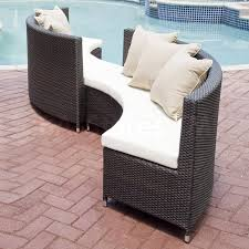 brown set patio source outdoor. Source Outdoor Largest Sets Collection: The Circa Conversation 2 Pcs Patio Set Round Benches) - Features Contemporary, Simple Design Brown S