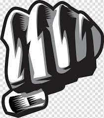 Fist Transparent Background White And Black Fist Logo Fudge Artist Canvas Print Logo