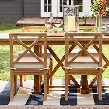 somerset outdoor teak dining side chair somerset outdoor teak dining side chair
