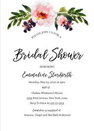 Invitation Free Templates Awesome Wedding Shower Invitation Free Templates Gallery