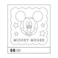 Op66 花ふきんパック刺繍 はなふきん ディズニー ミッキーマウス ミッキー 白 初心者でも簡単