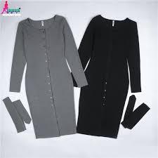 office black. Gagaopt Office Dress 95% Cotton Sexy Black Party Dresses Women Autumn Knee-length