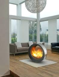 ... Malm Freestanding Outdoor Fireplace Free Standing Electric With Mantel  Gas Vent ...