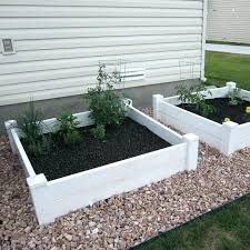 outdoor essentials white vinyl raised garden bed and extension kit new more image ideas 2 pack costco