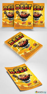 Barbecue Flyers Beef Barbecue Flyers Template Free Download Vector Stock