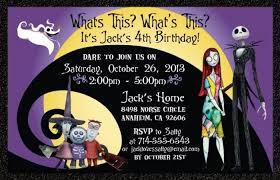 Free Halloween Birthday Invitation Templates Cool Nightmare Before Christmas Invitation Templates Gallery