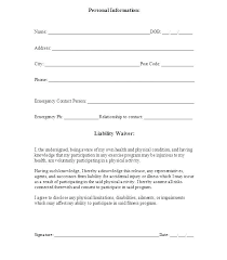 Liability Waiver Form Template Free Release Of Liability Template Free Release Liability