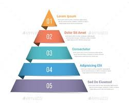 Pyramid Infographics With Five Elements Template Psd Vector Eps Ai