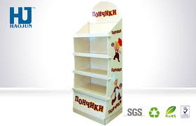 Hs Code For Display Stand Customized Yellow Three Tiers Cardboard Pallet Display Stand for 75