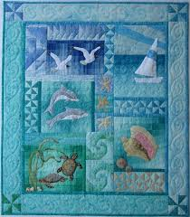 Best 25+ Ocean quilt ideas on Pinterest | Landscape quilts, Beach ... & By the Sea Wall Quilt pattern by donnaburkholder on Etsy, $25.00 Adamdwight.com