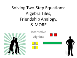 solving two step equations algebra tiles friendship ogy more