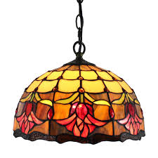 stained glass tulips design hanging pendant lamp 12 inch leaded light drop ceiling light fixtures pendant lights from dard 140 25 dhgate com