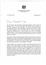 brexit letter from theresa invoking article 50
