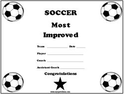 soccer awards templates youth soccer coaching sports forms mysportsforms com