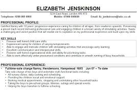 How To Write Nanny On A Resume Sample Nanny Resume Michael Resume