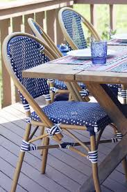 great navy bistro chairs world market boho patio makeover challenge house of hipsters
