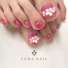 ピンク フットネイル Luna Nailルナネイルのネイルデザイン ネイル