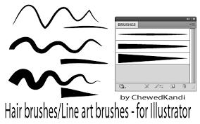 Hair Line Art Brushes For Ai By Chewedkandi On Deviantart